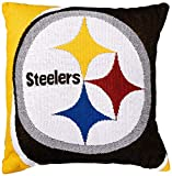 """Officially Licensed NFL Pittsburgh Steelers """"Portal"""" Jacquard Pillow, Multi Color, 20"""""""
