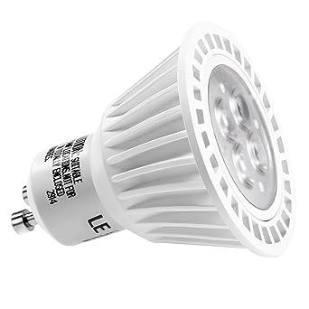 Le 6,5 W regulable mr16 GU10 LED bombillas, 50 W bombillas halógenas equivalentes