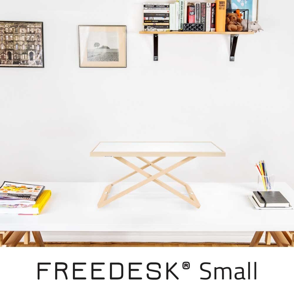 dise/ño sueco freedesk/®/ /Port/átil Escritorio de pie tama/ño peque/ño | color blanco Ni/ños. altura regulable