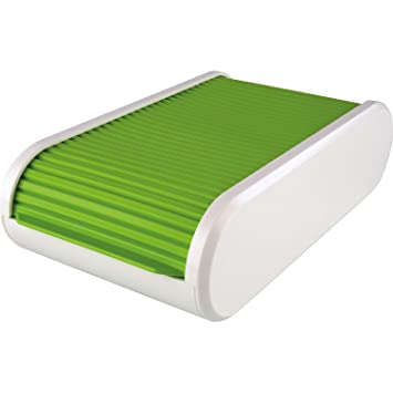 Helit H6218050 Visitenkartenbox The Personal Grün Transluzent Weiß
