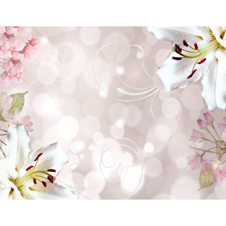 Papel Pintado Fotográ fico Lirios de flores 352 x 250 cm Tipo Fleece no-trenzado Saló n Dormitorio Despacho Pasillo Decoració n murales decoració n de paredes moderna - 100% FABRICADO EN ALEMANIA - 9125011a Runa Art GmbH