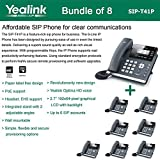 Yealink SIP-T41P - Bundle of 8 Gigabit Color IP Phone Revolutionarily New Design 3 VoIP Accounts