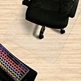 "Matladin Heavy Duty 48"" x 36"" PVC Chair Mat for Hardwood Floor, Rectangular 3mm Transparent Odorless Desk Chair Mat for Hard Floor, Wood Or Hard Surface Flooring Protectors for Office Home"