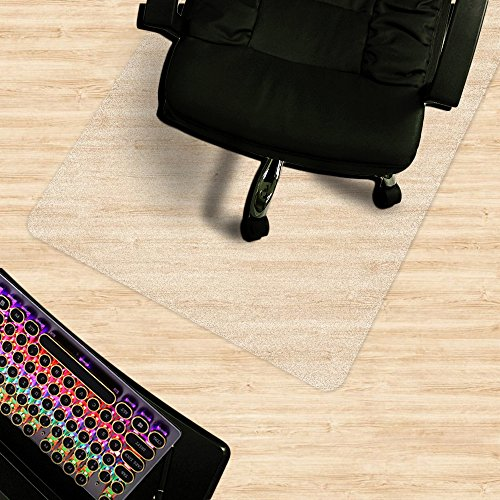 "Matladin Heavy Duty 48"" x 36"" PVC Chair Mat for Hardwood Floor, Rectangular 3mm Transparent Odorless Desk Chair Mat for Hard Floor, Wood Or Hard Surface Flooring Protectors for Office Home by Matladin"