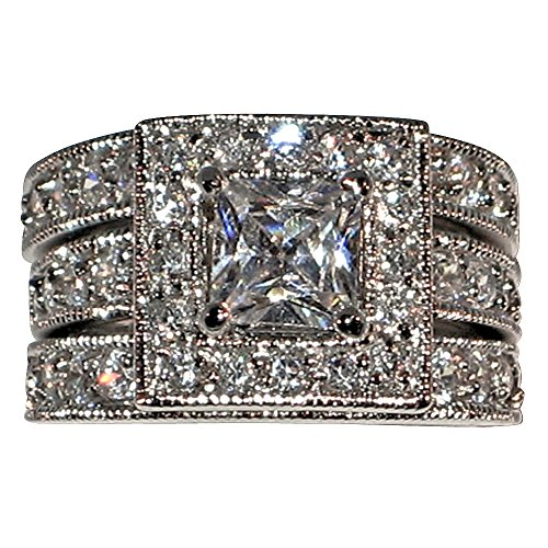 Vintage style Princess shape Bridal Engagement Ring product image