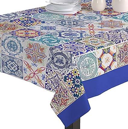 Martina Home Mosaic Tablecloth Fabric Multi-Colour 140 x 180 cm multicoloured
