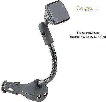 Callstel – Cargador de Coche: flexible – Soporte magnético con 2 ...