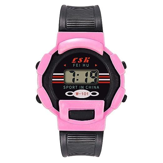 BBestseller Relojes Deportivo Infantil electrónico -Impermeable de Reloj con Alarma Cronómetro Inteligente LED Pulsera Inteligente