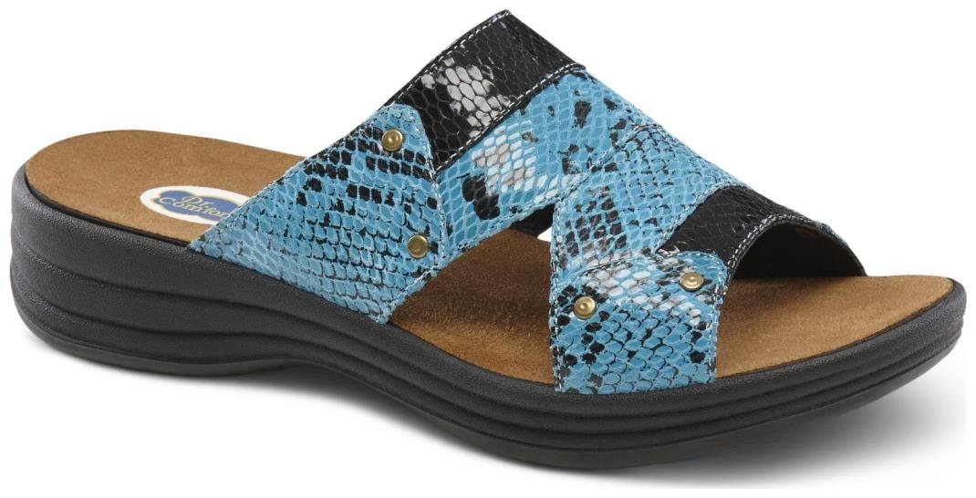 Dr. Comfort Women's Karen Blue Sandals