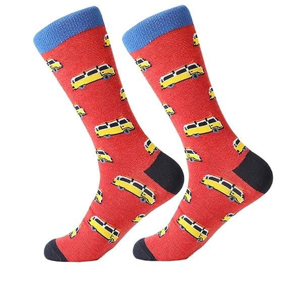 Zooarts calcetines de algodón peinado coloridos para hombre, divertidos, bonitos y lujosos calcetines casuales Multicolor Bus S/M: Amazon.es: Ropa y ...