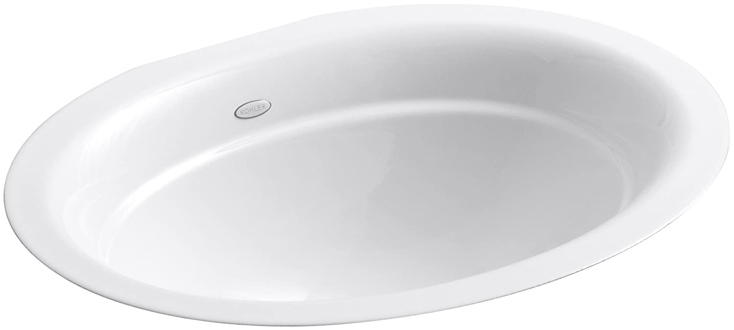 KOHLER K-2824-0 Serif Undercounter Bathroom Sink, White