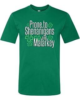 87df2bd9 Panoware Men's St Patricks Day T-Shirt   Prone to Shenanigans and Malarkey