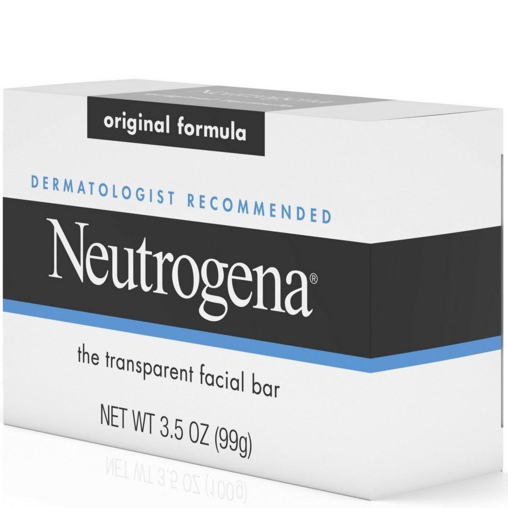 Neutrogena The Transparent Facial Bar Original Formula, 3.50 oz ( Pack of 24)
