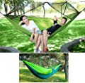 Outdoor Double Camping Hammocks with Mosquito Net Hammock Tree Straps Portable Lightweight Backpack Parachute JingStyle Two Person Hammock Tent for Travel Hiking Large Size 8.7ft x 4.5ft Hold Up 660lb