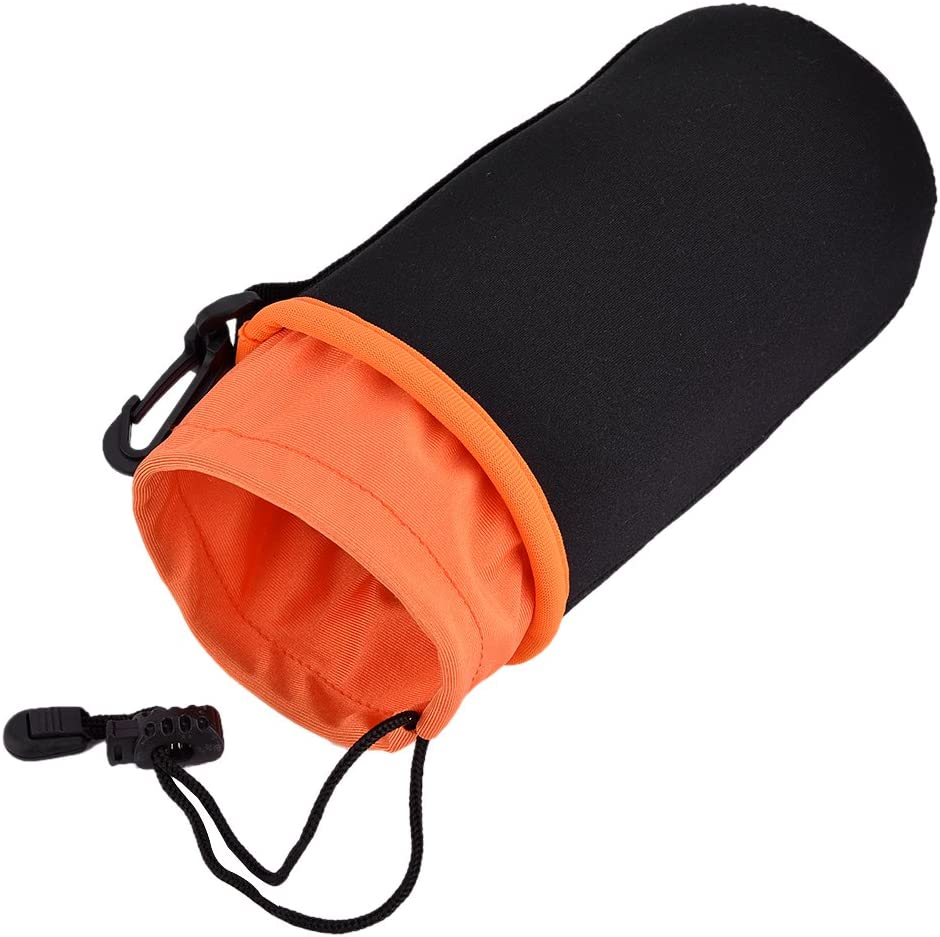 Waterproof Soft Protective Pouch Bag Case 4pcs//lot Sturdy Durable Brushed Neoprene Thicken Lens Bag with 4 Sizes a Pack for DSLR Camera Lens