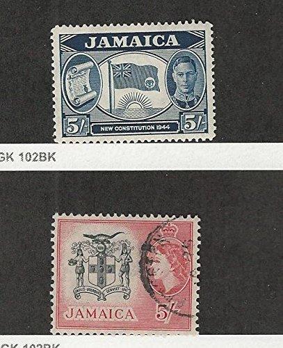 Jamaica, Postage Stamp, 134 Mint Hinged, 172 Used, 1945-56 Flag