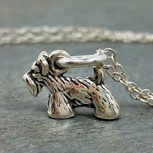 Tiny Scottish Terrier Scottie Necklace - 925 Sterling - Scottie Dog Silver Sterling Charm