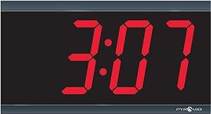 Simplex Compatible 4-Digit, Red LED 110V Digital Clock by Pyramid(41357G)