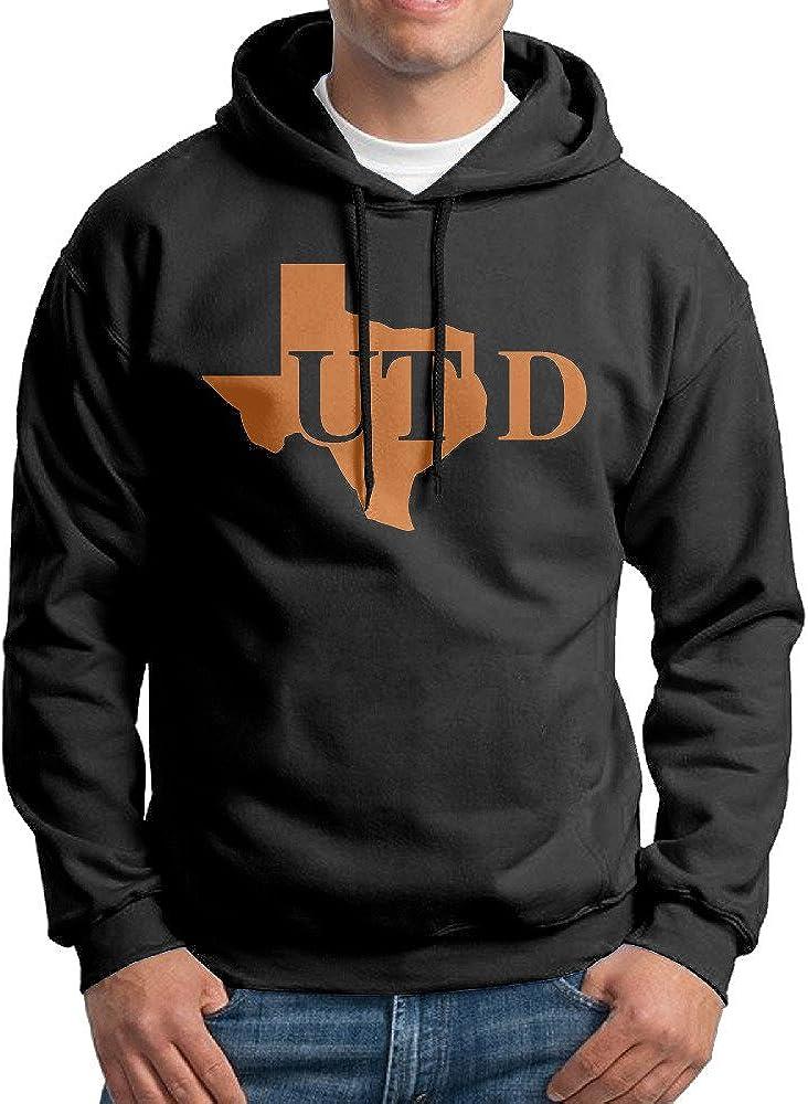 AuSin Men's University of Texas at Dallas Hooded Sweatshirt Black