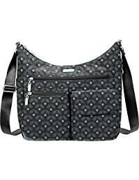 Everywhere Lightweight Crossbody Bag - Multi-Pocketed, Spacious Water-Resistant Travel Purse with RFID Wristlet