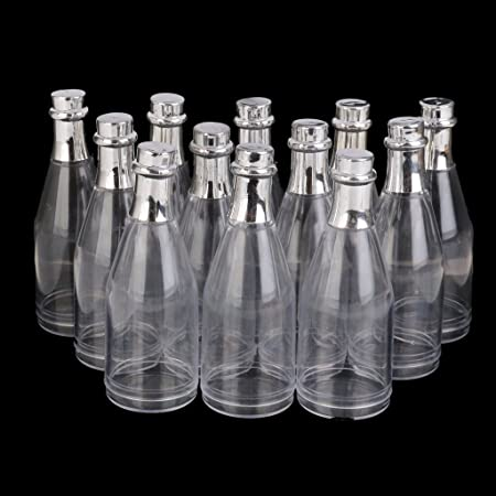 30e9d6a2b982 Amazon.com: Royarebar Pack of 12 Clear Bottle with Lid Glass Bottles ...