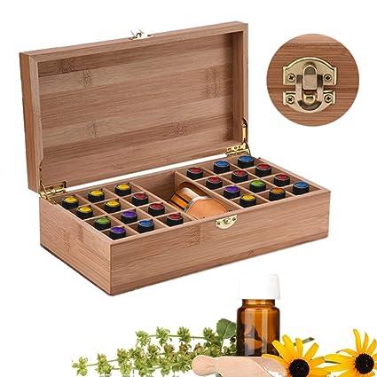 Caja de almacenamiento de madera para aceites esenciales ...