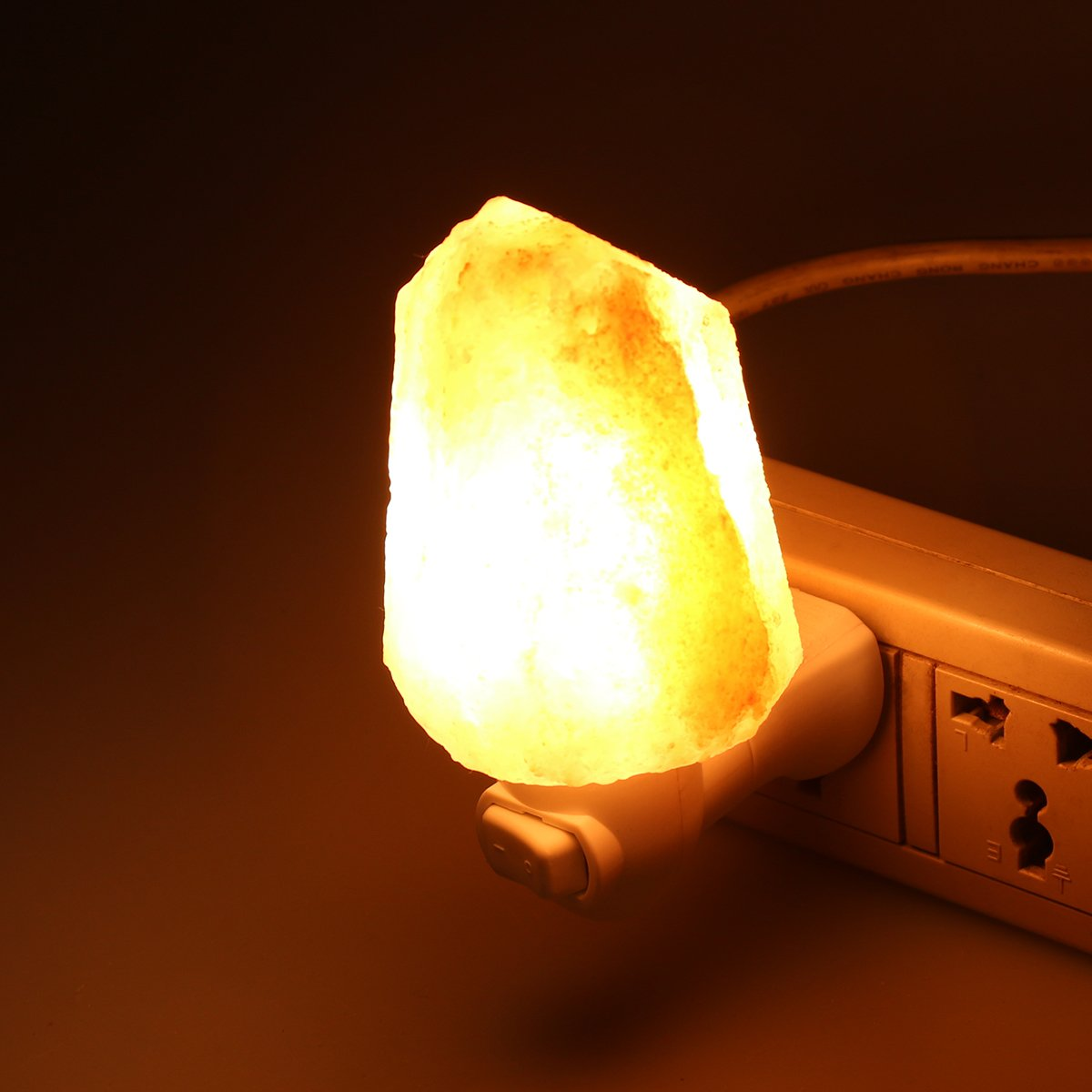 SDlife Salt Lamp Home Decor Night Light With Wall Plug (A)