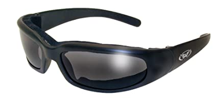 9789894b76 Image Unavailable. Image not available for. Color  Global Vision Chicago  Padded Riding Glasses (Black Frame Smoke Lens)