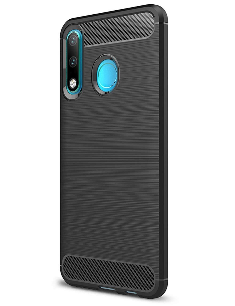 Coque-Etui-Housse-Silicone-brossee-Fibre-de-carbone-Noir-Protection-Huawei miniature 36