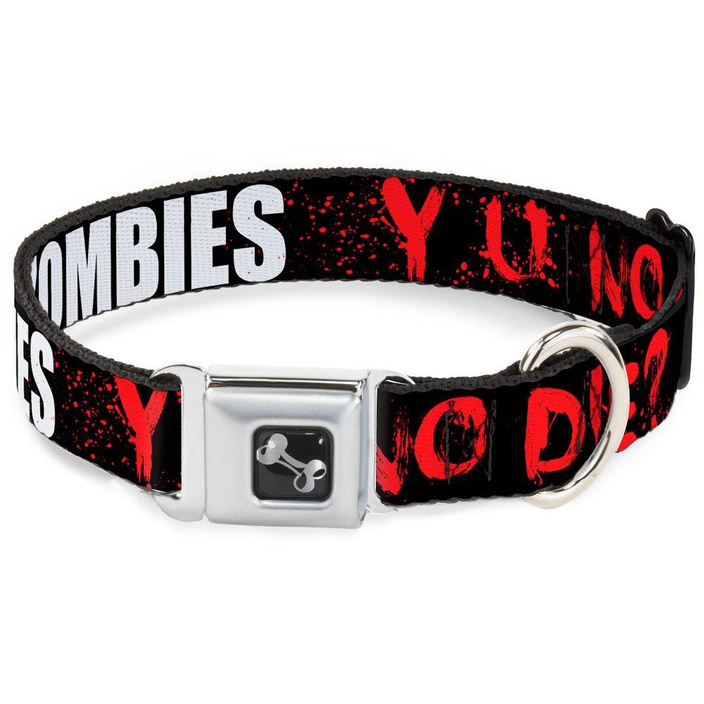 Buckle-Down Seatbelt Buckle Dog Collar I Heart  Zombies