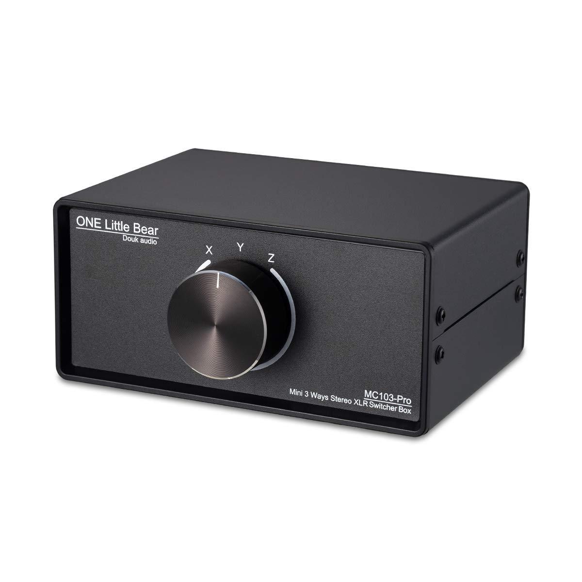 Nobsound Interrupteur Audio XLR 3-IN-1-OUT ; convertisseur Audio /équilibr/é ; commutateur Audio Passif 3 Voies st/ér/éo