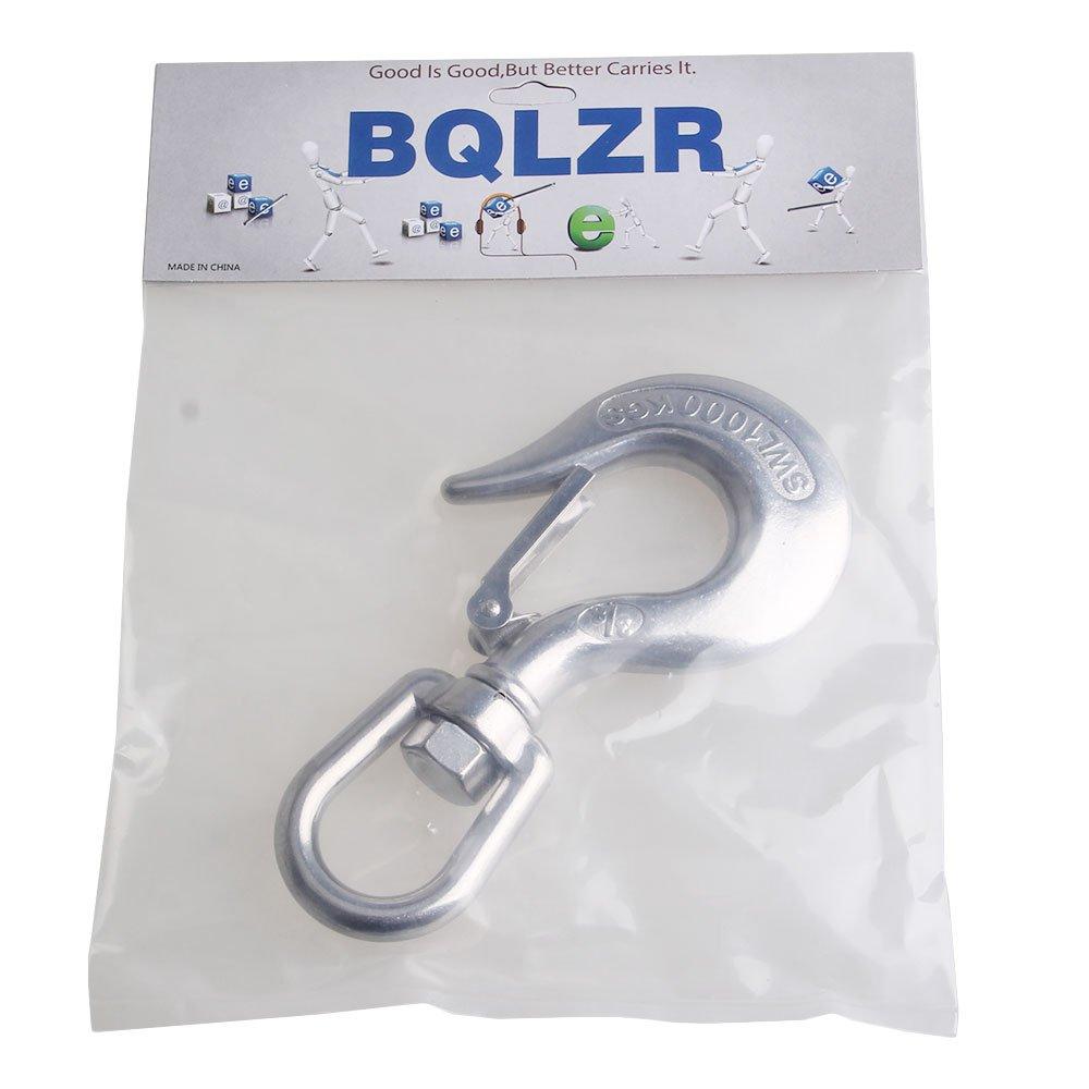 BQLZR Silver American Type 304 Stainless Steel Swivel Eye Type Lifting Hook 1000KG Working Load Limit by BQLZR (Image #7)