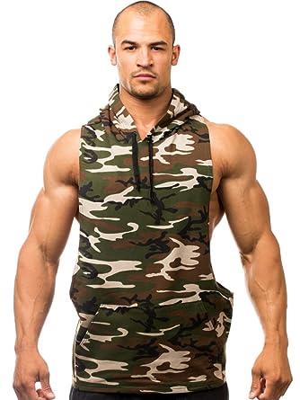 Camuflaje y-Back algodón/Lycra - Camiseta tank-top-style Savage sudadera con capucha: Amazon.es: Ropa y accesorios