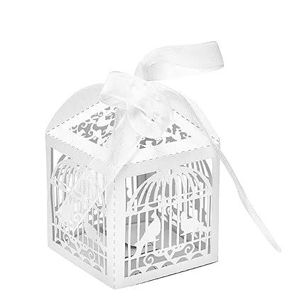 sevenmye 10pcs Pájaro cinta boda regalos fiesta Jaula de caja de ...
