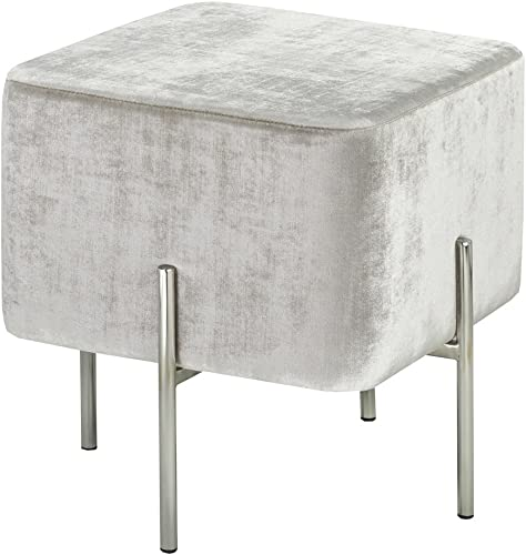 Uptown Club The Ward Collection Velvet Ottoman
