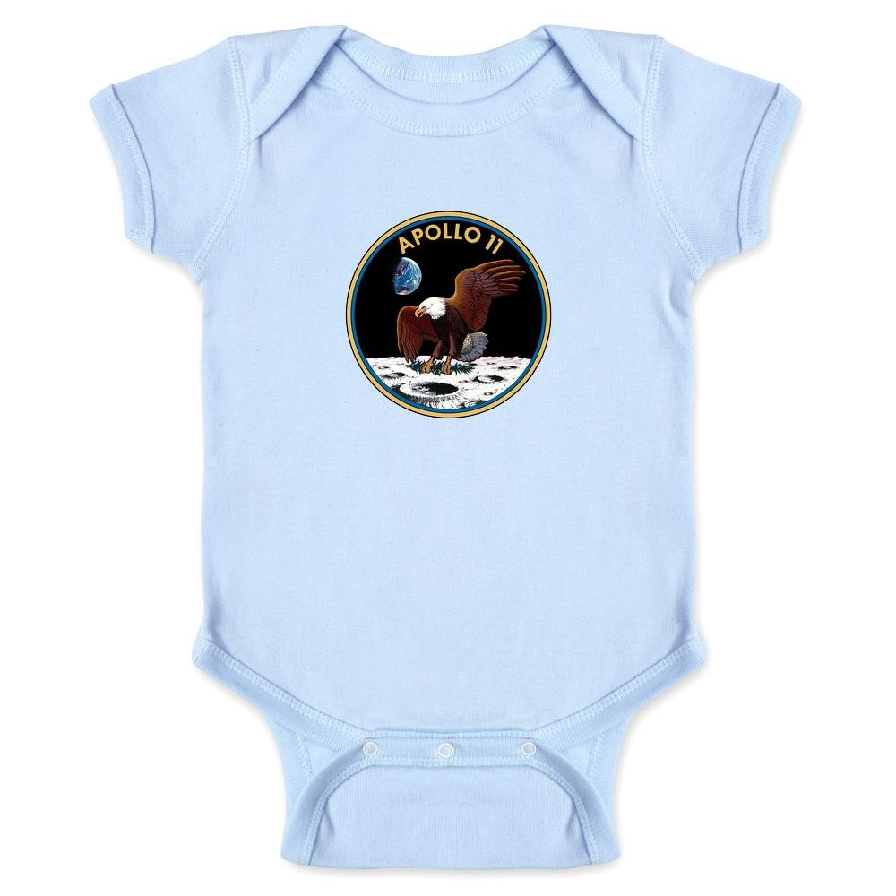 Pop Threads Apollo 11 Mission Patch NASA Approved Infant Bodysuit by