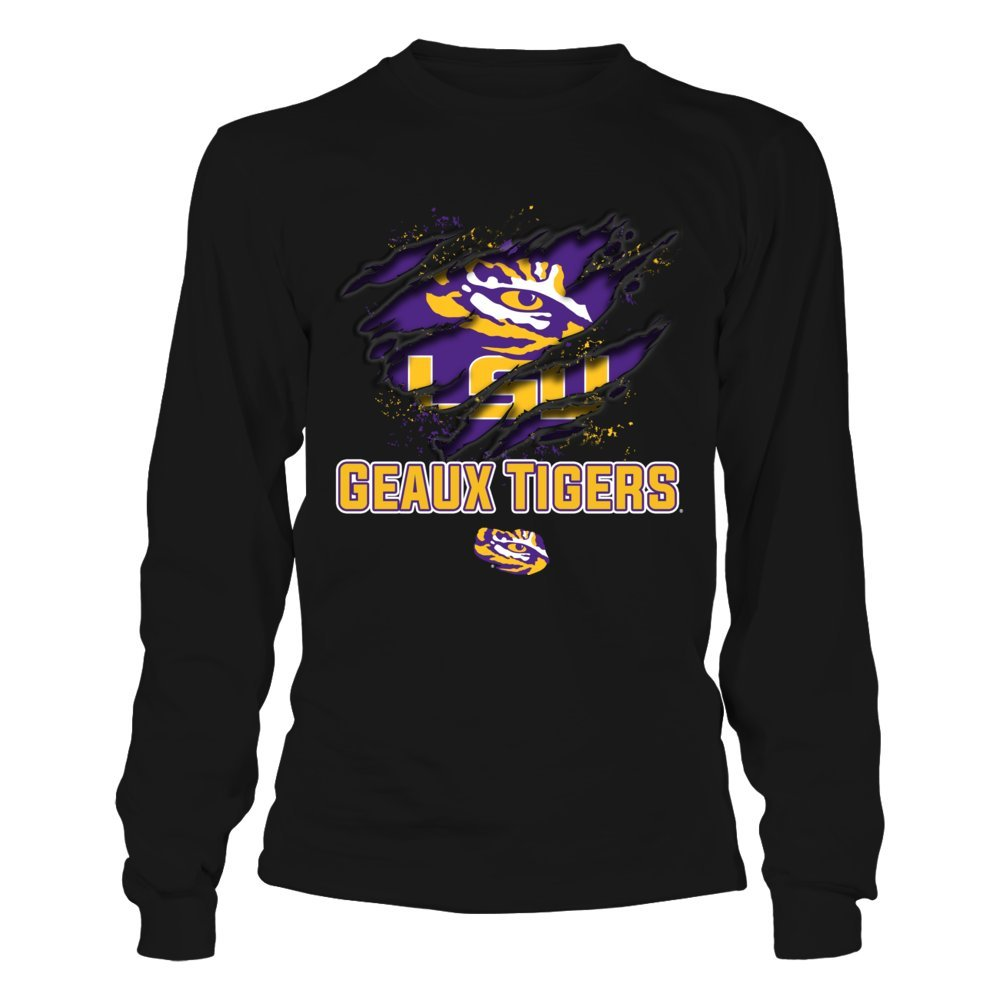 premium selection c7431 7f579 Amazon.com: LSU Tigers Tearing Shirt Basketball T-Shirt ...