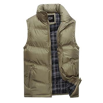 Morbuy Chaleco de Hombre de la Moda Abajo Winter Down Vest Chaqueta sin Mangas Ultra Light
