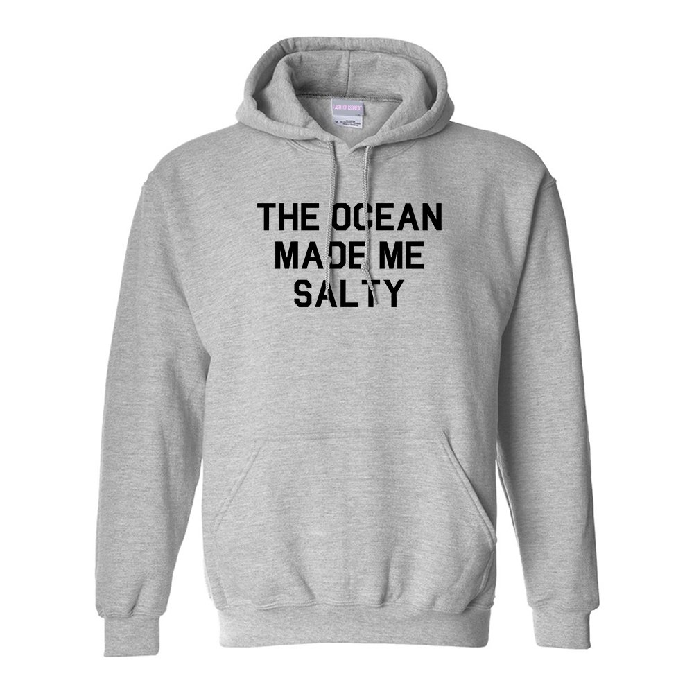 FASHIONISGREAT The Ocean Made Me Salty Vacation Unisex Pullover Hoodie