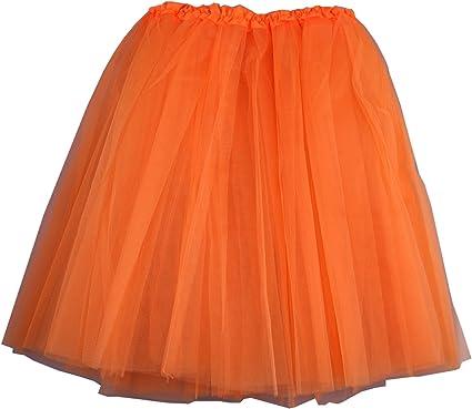 Falda de tutú para danza, ballet, de encaje de organza Naranja ...