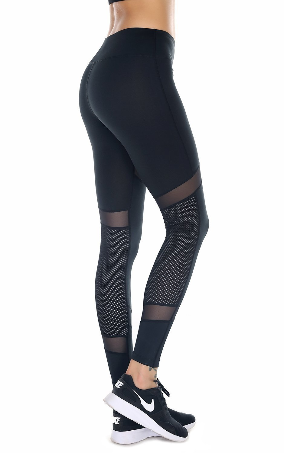 9b43c71743d19 YIVEKO Tight (S-XL) Mesh Panels Yoga Pants Stretchy Women Leggings Gym  Fitness Workout Non See Through, Sports & Outdoors - Amazon Canada