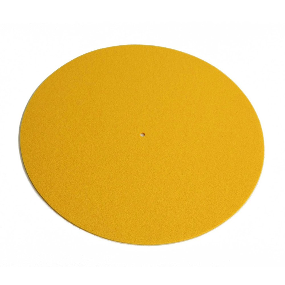 Amazon.com: Rega Mat amarillo estándar lana Turntable Mat ...