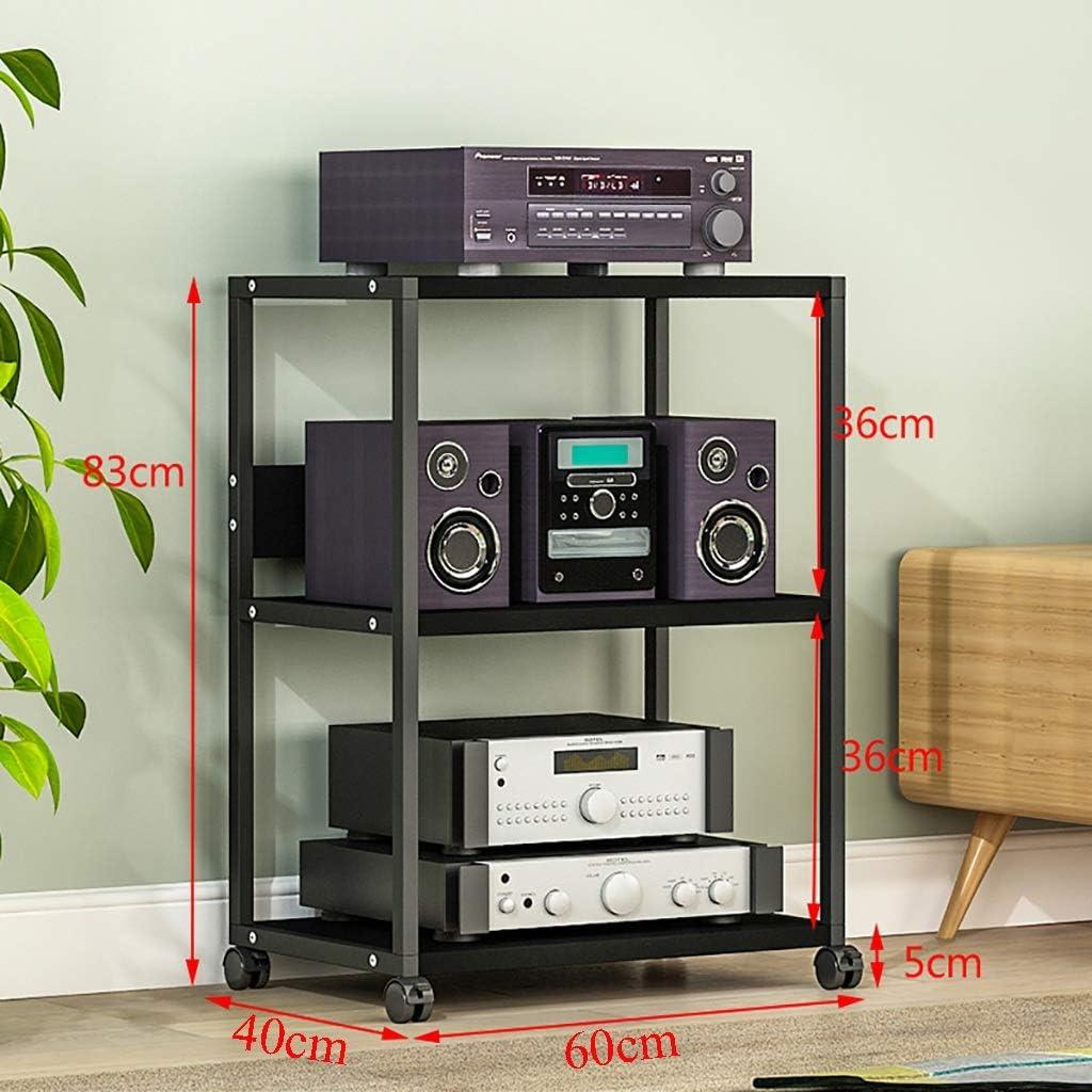 Estanterías para CD DVD Rack de audio Estante de almacenamiento para DVD, Amplificador de altavoz multifunción Gabinete especial Estante de CD extraíble de 3/4/5 capas, marco de soporte de equipo: Amazon.es: Hogar