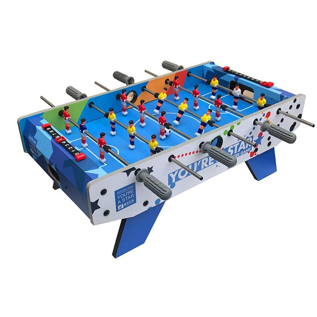 サッカー 小さなテーブルサッカーマシンホームデスクトップ6人乗りサッカーテーブルゲームテーブル子供のおもちゃ3-10歳の誕生日プレゼント知育玩具 球技スポーツ (Color : Blue, Size : 69.5*36.5*24cm) B07NXPR6WZ Blue 69.5*36.5*24cm