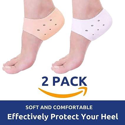 167f92eea34 IZZORI Silicone Gel Heel Socks for Dry Hard Cracked Heel Repair Pad ...