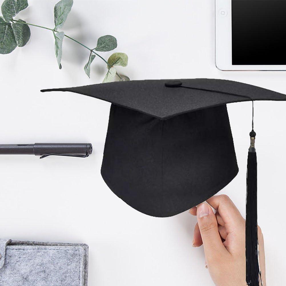 HEALLILY Bachelor Graduation Hat with Tassel Student Graduation Cap Academic Caps