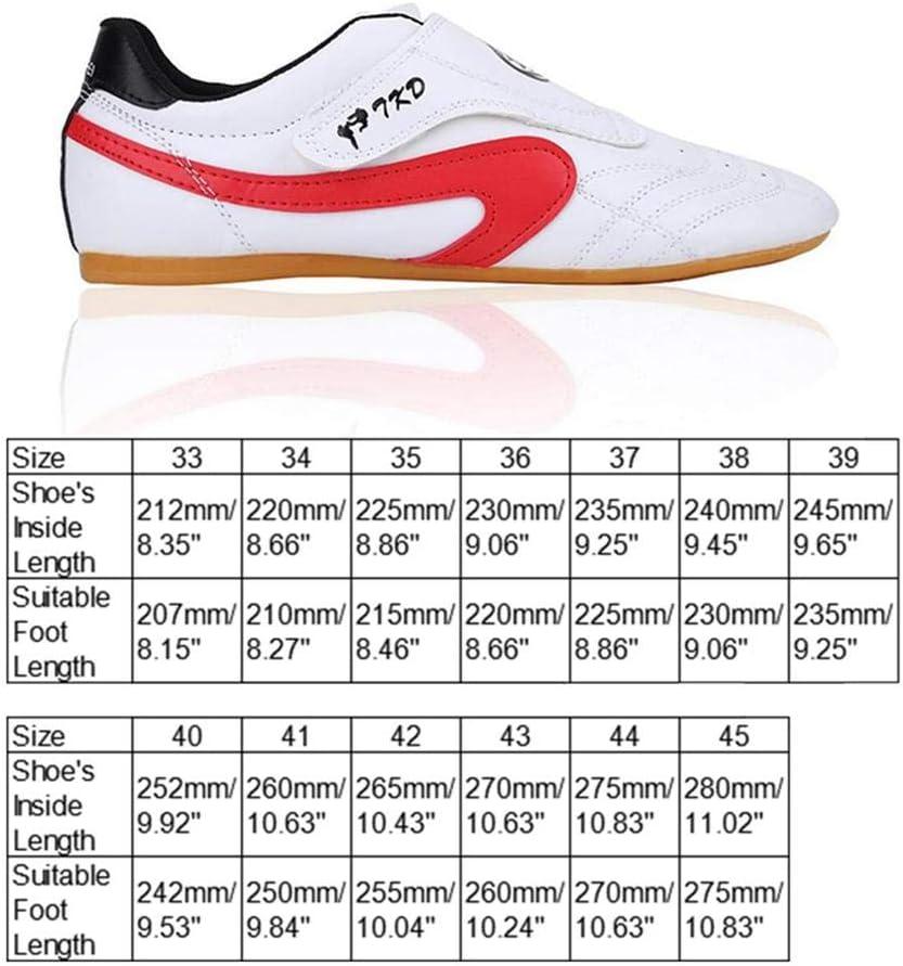 pour Taekwondo Taichi Respirantes et r/ésistantes /à lusure Volwco Chaussures de Taekwondo Kung fu Semelle en Caoutchouc karat/é Chaussures de Sport Unisexes pour Enfants Boxe 37