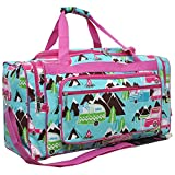 Happy Camper Print NGIL Canvas Carry on Shoulder 23'' Duffle Bag