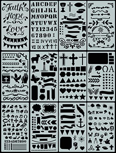 Essentials Faith Stencil Set (Bible Journaling) (over 350 designs)