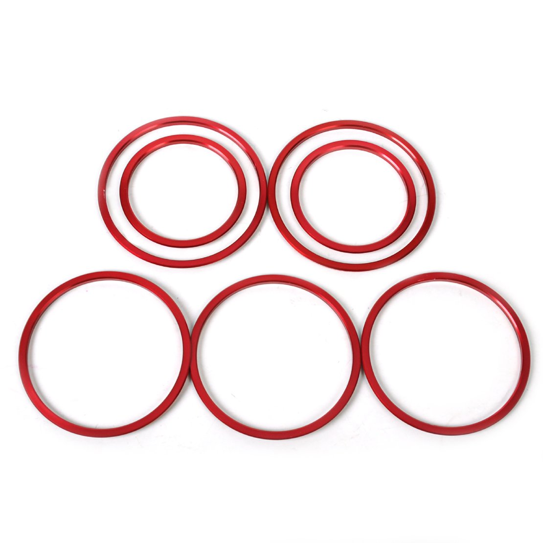 7pcs Set Interior Air Condition AC Vent Outlet Trim Cover Red Eastar
